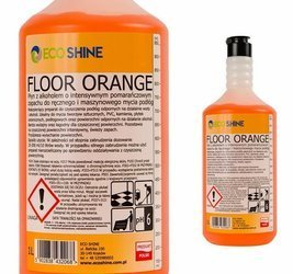 ECO SHINE FLOOR ORANGE 1L płyn z alkoholem maszynowe mycie podłóg