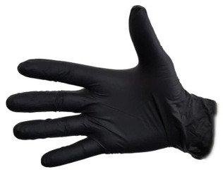 Rękawiczki Jednorazowe NITRYLOWE 100szt XL Czarne