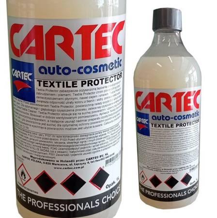 Cartec Textile Protector 1L Impregnat do Tapicerki dachów cabrio hydrofobowa powłoka