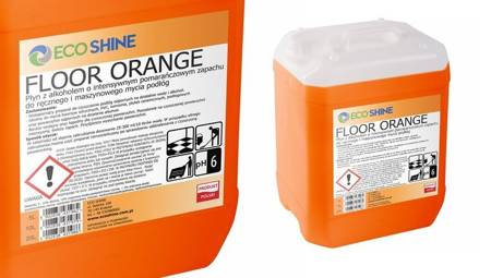 ECO SHINE FLOOR ORANGE 5L płyn z alkoholem maszynowe mycie podłóg do myjek ZAPACH