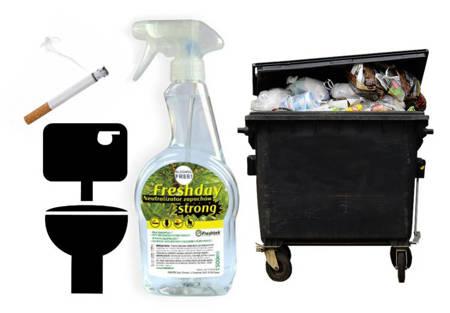 FRESHDAY NEUTRALIZAROR zapachów STRONG kosz toaleta papierosów 500ml