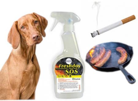 FRESHDAY NEUTRALIZATOR S.O.S. 500ml zapachów papierosów smażenia zwierząt