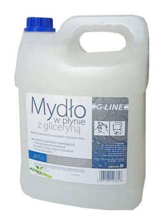 Mydło G-LINE Białe w płynie  z gliceryną  Kwiatowe Świeże 5L