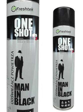 One Shot  MAN IN BLACK 600ml odświeżacz powietrza neutralizator zapachów