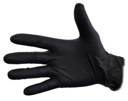 Rękawiczki Jednorazowe NITRYLOWE 100szt M Czarne